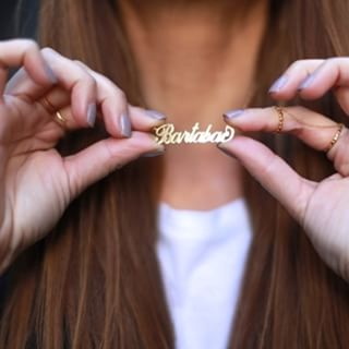 24K Gold Plated Carrie Name Necklace - How it looks in reality - Thumbnail - 2