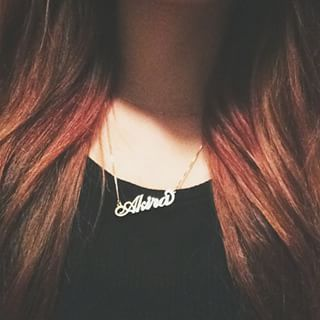 24K Gold Plated Carrie Name Necklace - How it looks in reality - Thumbnail - 9