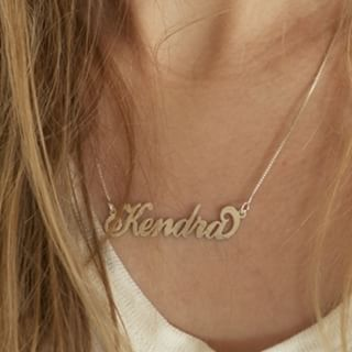 24K Gold Plated Carrie Name Necklace - How it looks in reality - Thumbnail - 15