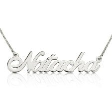 Silver Alegro Name Necklace