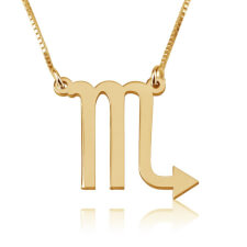 Scorpio Necklace in Gold Plating