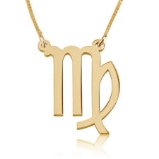 Virgo Necklace in Gold Plating