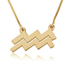 Aquarius Necklace in Gold Plating
