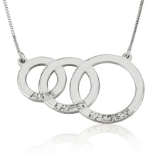 Engraved Kids Name Mother Necklace