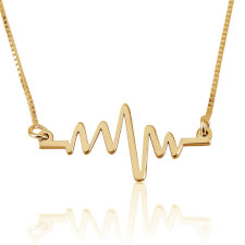 Heartbeat Necklace in Gold Plating
