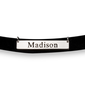 Cut Out Name - Bar Choker Necklace