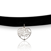 Tree of Life Heart Choker Necklace