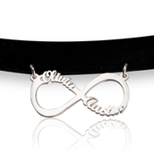 Infinity Friendship Choker Necklace