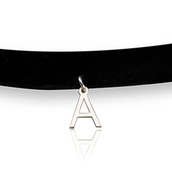 Initial Letter Choker Necklace