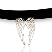 Angel Wings Choker Necklace