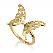 Expandable Butterfly Ring in Gold Plating