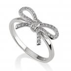 Cubic Zirconia Bow Ring - Thumb