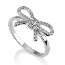 Cubic Zirconia Bow Ring