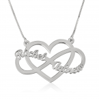 Infinity and Heart Name Necklace - Thumb