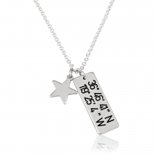 Coordinate Necklace with Star