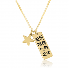 Coordinate Necklace with Star in Gold Plating