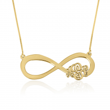Infinity Monogram Necklace in Gold Plating