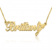 14K Solid Gold Classic Name Necklace with Symbol