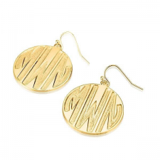 24k Gold Plated Sparkling Letters Monogram Earrings