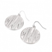 Sterling Silver Sparkling Letters Monogram Earrings