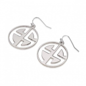 Sterling Silver Capital Letters Cut Out Monogram Earrings