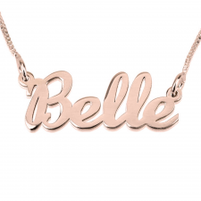 Rose Gold Handwriting Name Necklace