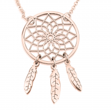 Rose Gold Dreamcatcher Necklace