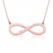 Rose Gold Infinity Name Necklace