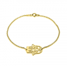 Hamsa Bracelet in Gold Plating
