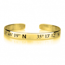 Coordinates Bangle in Gold Plating