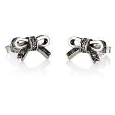 Small Cubic Zirconia Bow Earrings