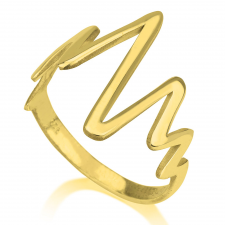 Heartbeat Ring in Gold Plating
