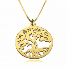 Tree of Life Necklace  in Gold Plating