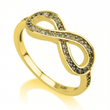 24k Gold Plated Cubic Zirconia Infinity Ring