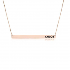 Rose Gold Thin Bar Necklace
