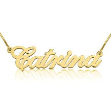 14K Gold Alegro Name Necklace