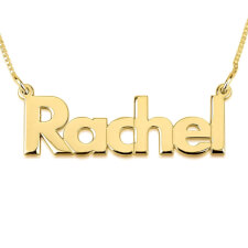 14K Gold Bold Print Name Necklace