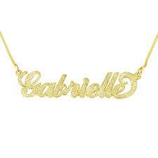 Sparkling 14k Gold Carrie Name Necklace