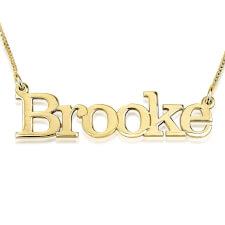 14K Gold Elephant Name Necklace