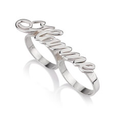 Sterling Silver Alegro Two Finger Ring