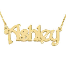 14K Gold Harrie Style Name Necklace