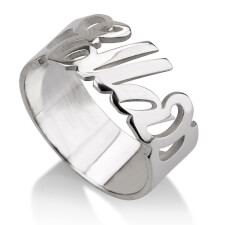 Sterling Silver Carrie Name Ring