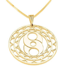24k Gold Plated Crop Circle S Circle