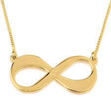 24K Gold Plated Infinity Necklace