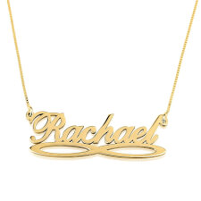 24K Gold Plated Infinity Name Necklace