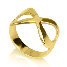 24K Gold Plated Plain Infinity Ring