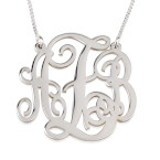 Collier Monogramme trait d'union en Argent - Thumb