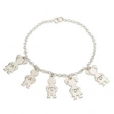 Sterling Silver Mom Bracelet
