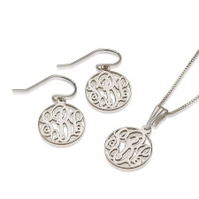 Sterling Silver Monogram Set