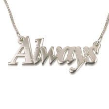 Thicker Font Name Necklace